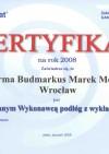 Certyfikat Gamrat 2008