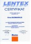 Certyfikat Lentex 2010