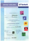 Certyfikat Tarkett 2008